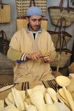 торговец рынка морокканский усаженный Стоковое фото RF