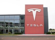 Торговец Tesla в Амстердаме Стоковое Изображение RF