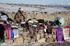 Торговля в высоких Андах i стоковое изображение rf
