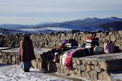 Торговля в высоких Андах II стоковое фото