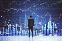 Торговля и концепция stats стоковое изображение