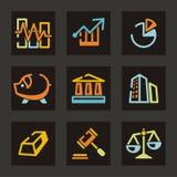 торговля серии иконы Стоковые Изображения