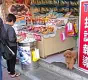 Торговля улицы в помадках в городе Тайбэя, столице Тайваня стоковая фотография
