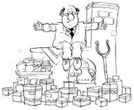 торговля хлебопекарни Иллюстрация штока