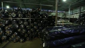 Торговое складирование и грузить крены сетки для торцовки дороги видеоматериал