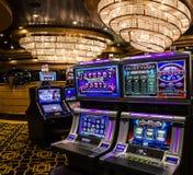 Торговые автоматы игры в играя в азартные игры казино, вкладыше Splendida круиза, Стоковые Изображения