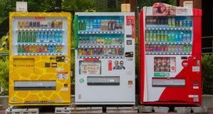 Торговые автоматы различной компании в Нагое япония Стоковые Фото