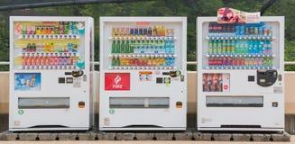 Торговые автоматы различной компании в Нагое япония Стоковая Фотография