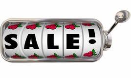 Торговый автомат слова продажи катит дело низкой цены удачливое Стоковая Фотография RF
