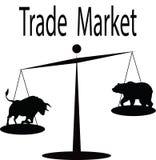 Торговый рынок - быки и медведи на Scal Стоковая Фотография