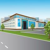 Торговый центр с большими окнами в перспективе бесплатная иллюстрация
