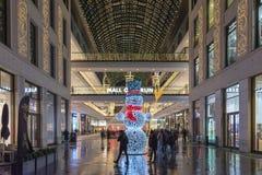 Торговый центр украшения рождества Берлина внутреннего стоковая фотография rf