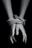 Торговля людьми - фото концепции Стоковые Изображения