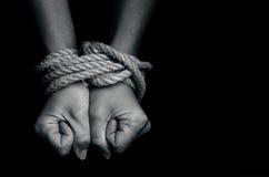 Торговля людьми - фото концепции Стоковое Изображение RF