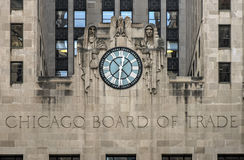 торговля chicago здания доски Стоковые Изображения