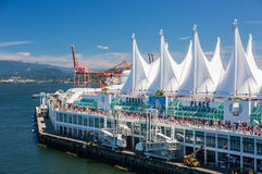 торговля vancouver места конвенции Канады разбивочная стоковое фото