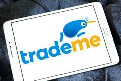 Торгуйте мной логотип вебсайта аукциона интернета Стоковая Фотография