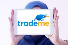 Торгуйте мной логотип вебсайта аукциона интернета Стоковое Изображение RF