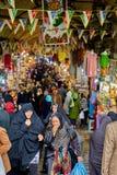 Торгующ на грандиозном базаре в исламской республике Ирана, Тегеран Стоковые Фотографии RF
