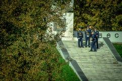 Торжества в честь годовщины высвобождения от нацистских оккупантов в мемориале в деревне Ilinskoe в reg Kaluga Стоковая Фотография RF