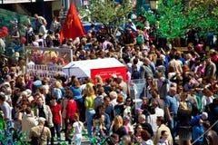 Торжества дня победы в Москве Стоковая Фотография