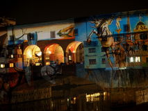 Торжества рождества на Ponte Vecchio, Флоренции стоковое изображение
