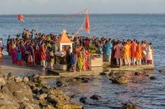 Торжества Ganesha в Baie du Крышке, Маврикии Стоковые Фотографии RF