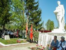 Торжественная встреча в честь дня победы в Второй Мировой Войне может 9, 2016 в зоне Kaluga в России стоковые фотографии rf