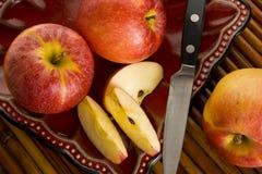 Торжественные яблоки Стоковые Изображения