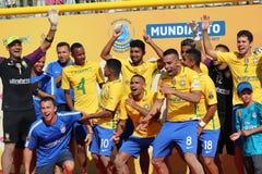 Торжество Бразилии - ПОРТУГАЛЬСКАЯ команда Carcavelos 2017 Португалия Стоковое Изображение