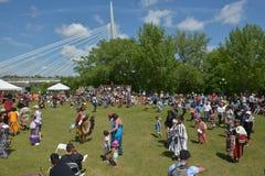 Торжество в реальном маштабе времени аборигенного дня в Виннипеге Стоковое Изображение RF