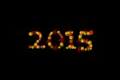 торжество 2015 год с фейерверками Стоковая Фотография RF