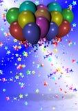 Торжество и воздушные шары Стоковое Фото