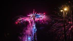 Торжество 2018 квадратный alma дня Бастилии Стоковые Фото