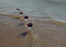 Торжество на пляже Стоковое Фото