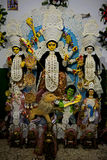 Торжество на Kolkata Durga Puja Mahotsav Стоковое Изображение RF