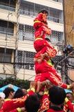 Торжество Нового Года Бангкока, Таиланда †16-ое февраля 2018 «самое большое китайское в Чайна-тауне Бангкока на дороге Yaowarat стоковые фотографии rf