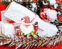 Торжество Нового Года, вещество праздника рождества, дерево, игрушки, оформление Стоковые Фотографии RF