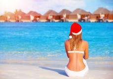 Торжество Нового Года на Мальдивах Стоковое фото RF