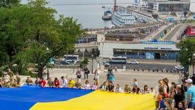 Торжество дня национального флага odessa Украина Стоковое фото RF