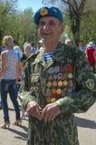 Торжество дня победы 9-ого мая 2012 в Волгограде, России. Стоковая Фотография