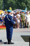 Торжество дня русских авиадесантных войск стоковое изображение rf