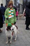 Торжество дня ` s St. Patrick в Москве Стоковое Изображение RF