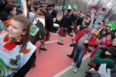 Торжество дня ` s St. Patrick в Москве Стоковое фото RF