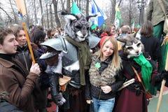 Торжество дня ` s St. Patrick в Москве Стоковое Изображение