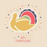 Торжество официальный праздник в США в память первых колонистов Массачусетса с птицей индюка Стоковые Изображения RF
