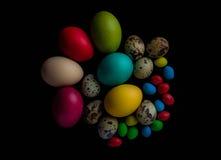 Торжество пасхальных яя, цвет, декоративный, дизайн, группа, праздник, объекты, красочные Стоковое Изображение