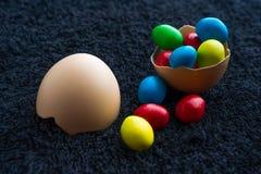 Торжество пасхальных яя, цвет, декоративный, дизайн, группа, праздник, объекты, красочные Стоковые Фото