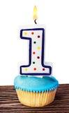 Торжество первого года то для изолированного дня рождения Стоковое Изображение RF