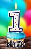Торжество первого года то для дня рождения Стоковое Изображение